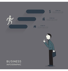 Businessman explaining about infographic vector