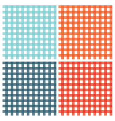Checkered pattern vintage plaid fabric texture vector