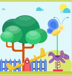children playground fun childhood play park vector image