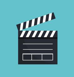 Clapper board cinema icon vector