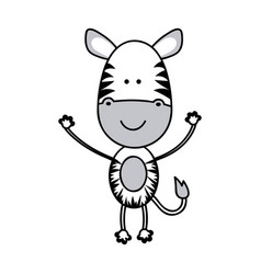 color teddy zebra icon vector image vector image