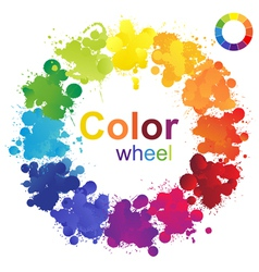 color wheel vector image vector image