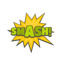 Comic boom smash icon flat style vector