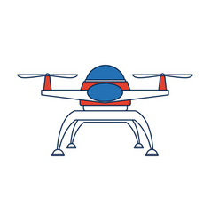 drone technology unmanned aerial vehicle icon vector image vector image