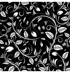 floral pattern with ladybug vector image