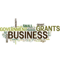 Government grants what are they and how to get vector