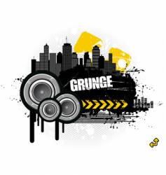 grunge urban scene vector image