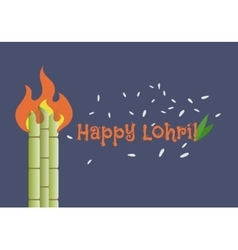 happy lohri banner vector image