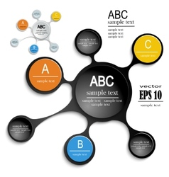 layouts for infographic vector image vector image