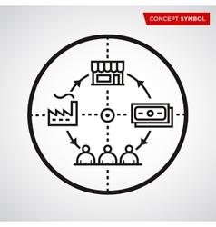 line economic icon vector image