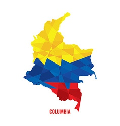 Map of Columbia vector image