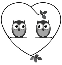 OWL HEART vector image vector image