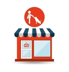 pet shop with avatar dog obedience vector image vector image