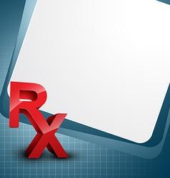 Rx vector image