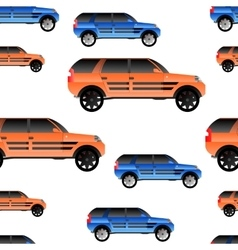 seamless pattern with cars for and vector image