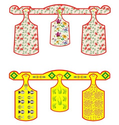 Set of chopping boards vector