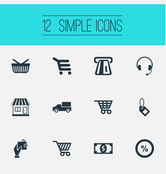 set of simple sale icons vector image