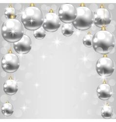 silver baubles vector image vector image