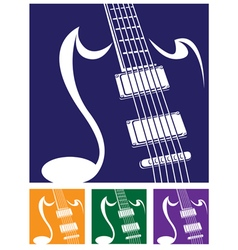 stylized guitar vector image