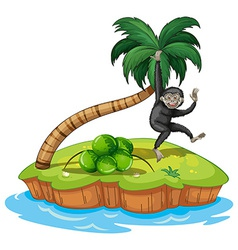 Swinging langur vector