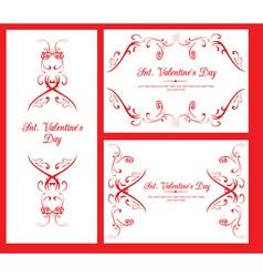 Valentine decorative cards vector