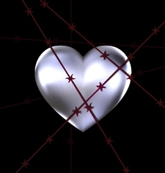 locked iron heart vector image