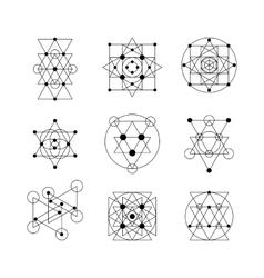 Sacred geometry elements vector