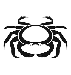 Seafood crab icon simple style vector