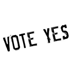 Vote yes rubber stamp vector