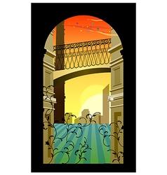 Romantic Streetscape Background vector image