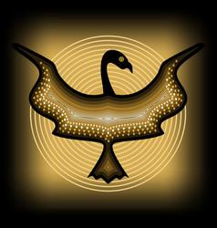Mythologic ornamental bird silhouette tribal vector