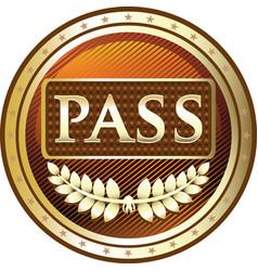 Vip pass icon vector