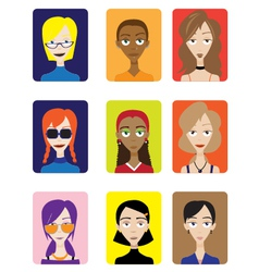Set of female avatar vector