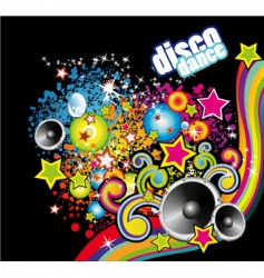 Disco dance flyer vector