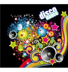 disco dance flyer vector image
