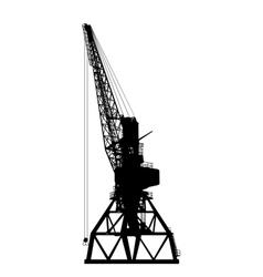building crane silhouette vector image