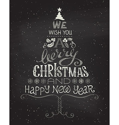 Vintage christmas background with hand-written vector
