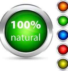 Natural button vector