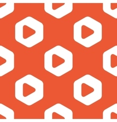 Orange hexagon play pattern vector