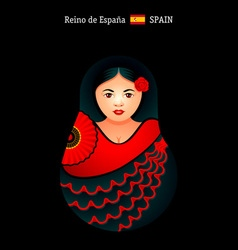 Matryoshka Spain vector image