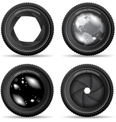 camera lense vector image