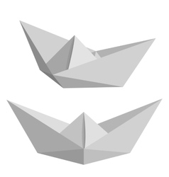 Set of paper ships vector