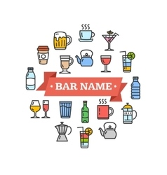 Drink sign vector