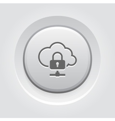 Cloud data protection icon vector