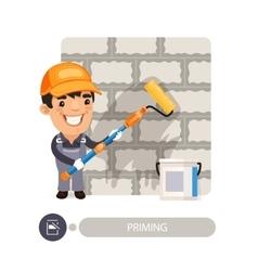 Worker Priming Wall vector image