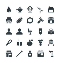 Hair Salon Cool Icons 3 vector image