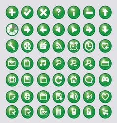 Icon with green circle vector