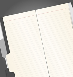 Note-book vector image