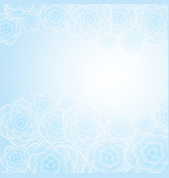 Beautiful blue rose flower background vector