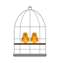 birds in cage icon vector image